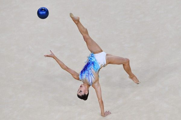 Australia's Danielle Prince competes in the individual all-around qualifying…