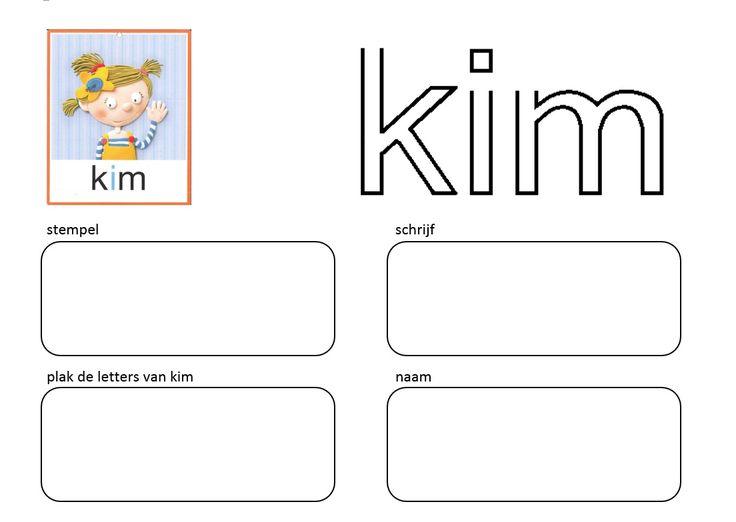 Stempel en schrijf: Kern 1 - KIM