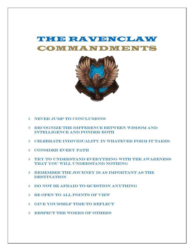 The Ravenclaw Commandments