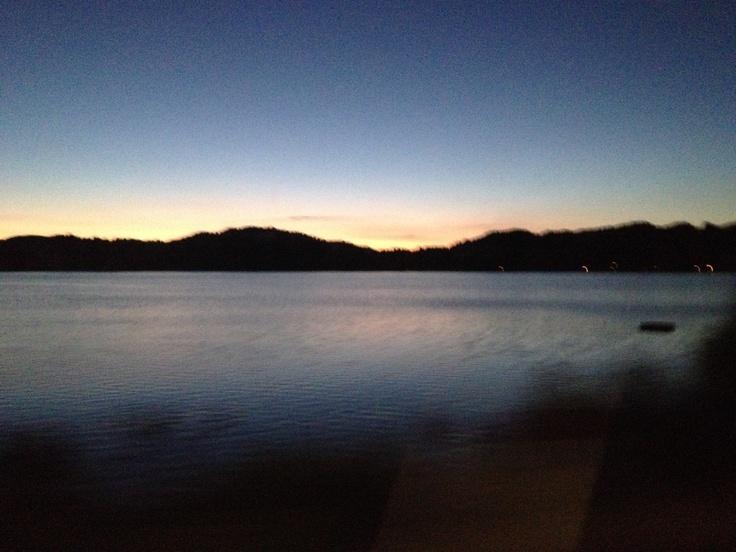 Rising sun over Lake Rotoiti