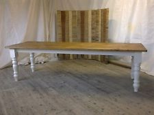 Handmade Large 9ft Reclaimed Pine Table Farmhouse Rustic Shabby Chic Fu0026B