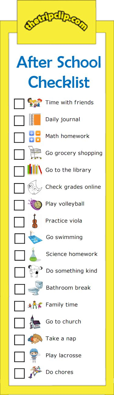 The 25+ best After school checklist ideas on Pinterest After - creating checklist