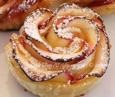 Rose+di+mele+con+pasta+sfoglia