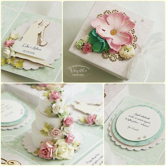 ScrapAndMe: Box ślubny z tortem - pastelowo i romantycznie