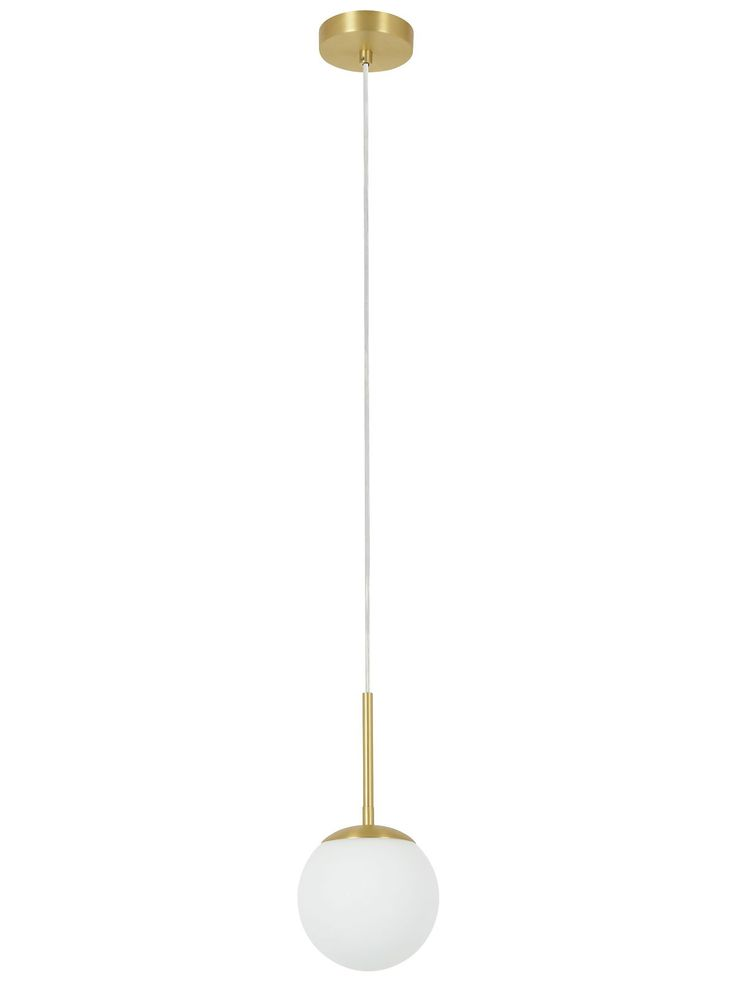 Quinn 1 light pendant in Brass/Opal