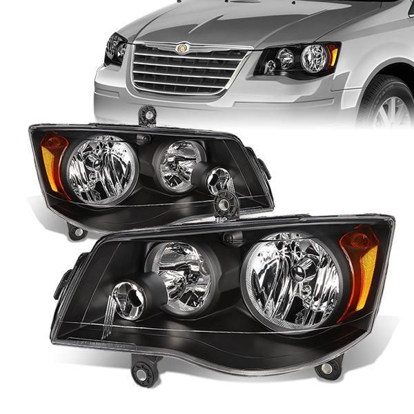 08 16 Chrysler Town Country 11 17 Dodge Grand Caravan Headlights