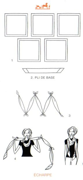 How to tie a scarf: Hermès scarf knotting cards - Vol II