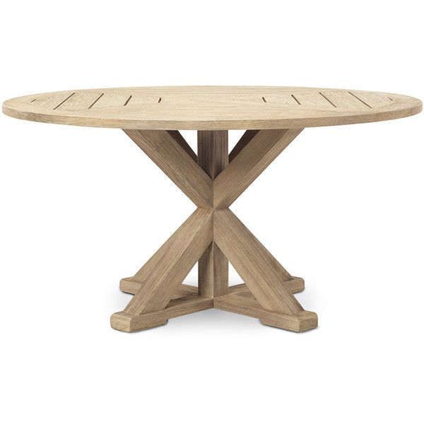 Ethimo Cronos Round Dining Table ($3,650) ❤ liked on Polyvore featuring home, outdoors, patio furniture, outdoor tables, brown, outdoor furniture, round patio furniture, outdoor table, outside patio furniture and round outdoor furniture