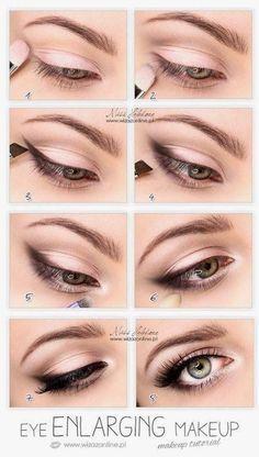 Forstørrende øyesminke