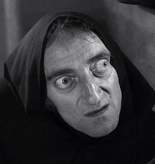 Marty Feldman as Igor in Mel Brooks' Young Frankenstein