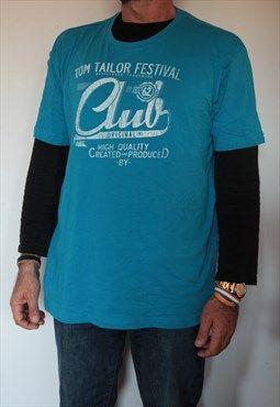 Tom Tailor Blue t-shirt. Size XL
