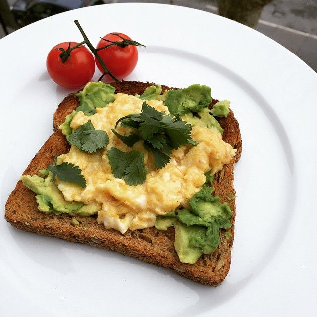 Think outside the cereal box at breakfast today! Try eggs cooked in Coconut oil with avocado on toast!