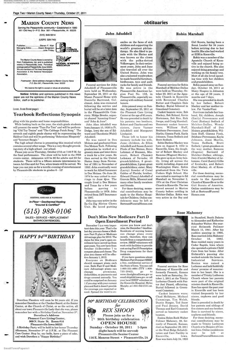 Marion County News  October 27, 2011 Page 2