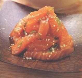 Notre recette de Sashimis de saumon citron vert - gingembre !