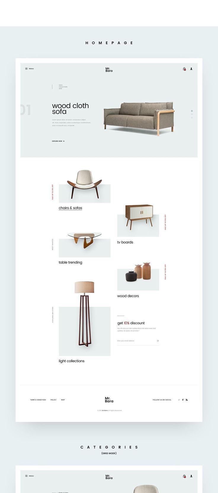 Ознакомьтесь с этим проектом @Behance: «Furniture Site Concept» https://www.behance.net/gallery/46712255/Furniture-Site-Concept