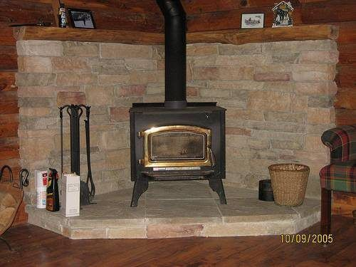 Image result for Wood-Burning Stove corner ideas