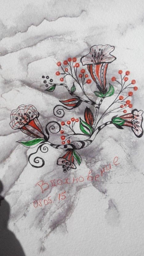 Doodling dudling цветы