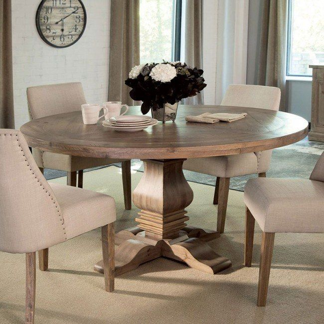 Florence Round Dining Set W Beige Chairs Round Dining Room Sets Round Pedestal Dining Table Round Dining Room