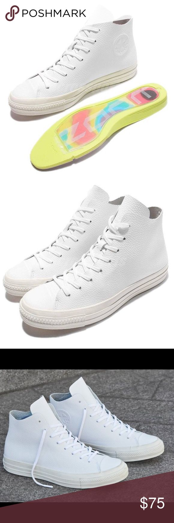 Converse all star Chuck Taylor White Leather shoes Brand new without box Converse Shoes Sneakers