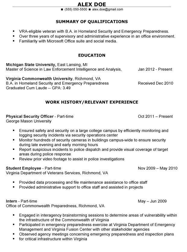 Resume Examples Veterans Resumeexamples