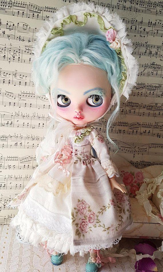 Blythe outfit romantic, rococo! Dress set 6 parts.