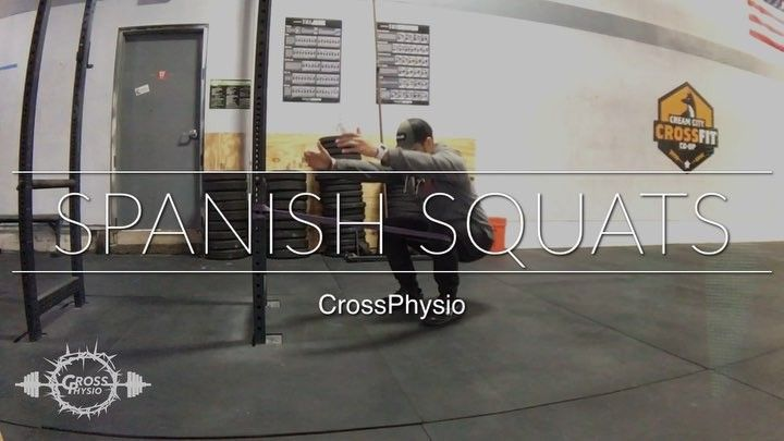 Strong quads  strong hips = pretty vertical torso squat. Dont forget to give the quads some love if you only ever focus on booty gainz! #repost @crossphysiopt    FOUNDATIONAL FRIDAY Spanish Squats  Do you suffer from a good morning squat? Whats that you ask? You get down to the bottom of the squat then as you rise up your butt shoots up and youre now hinged forward and then perform a good morning back up to a starting position.  The Spanish squats allows you to sit back into the squat while…