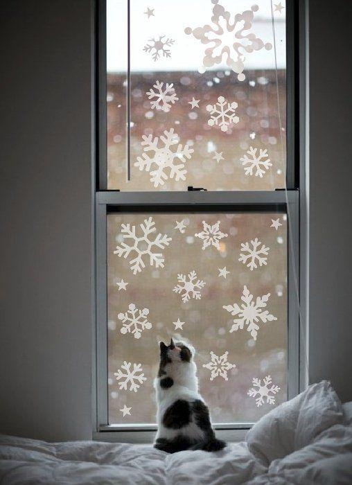 Zestaw śnieżynek na okno (proj. vinyl-love), do kupienia w DecoBazaar.com