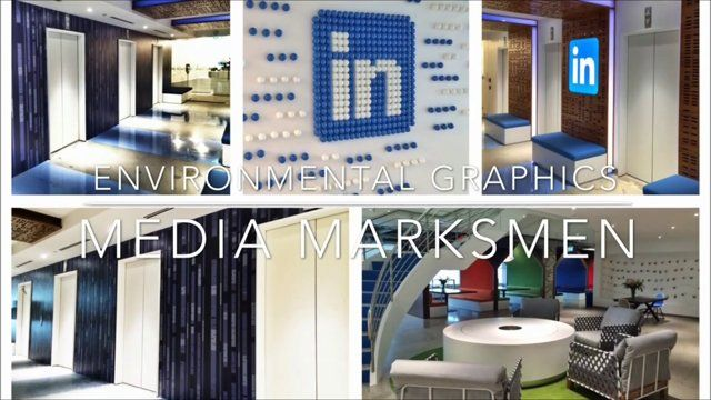 Here is a video of the environmental graphics package Media Marksmen did for LinkedIn