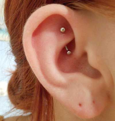 Rook Piercing >> 10 Different Types of Ear Piercings That Are Most Popular Right Now