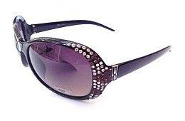 DG Womens Oversized Diamante Sunglasses