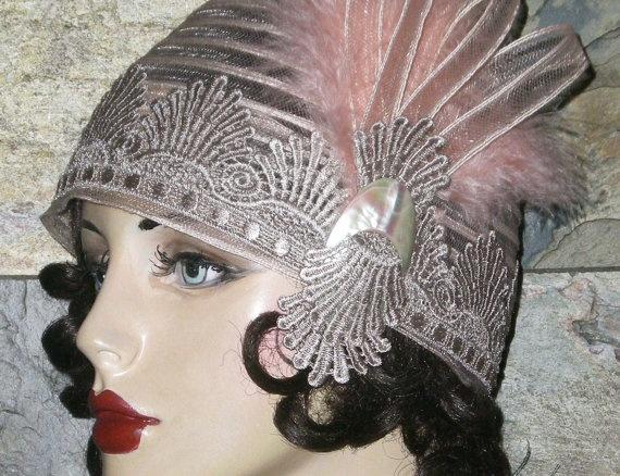 Roaring s flapper girl skull cap my style pinterest