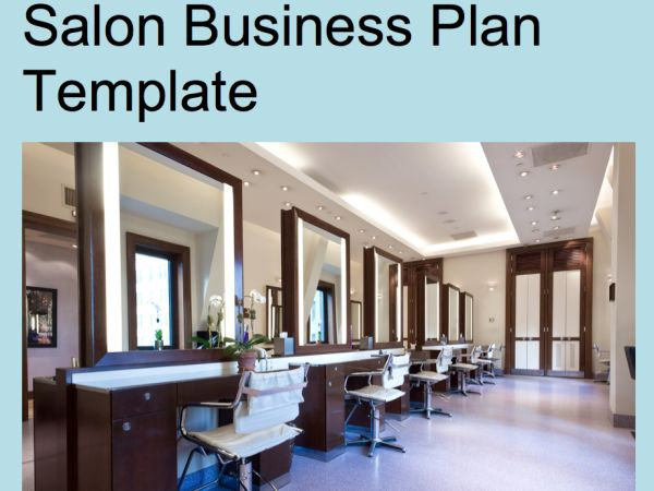 Salon Business Plan Template