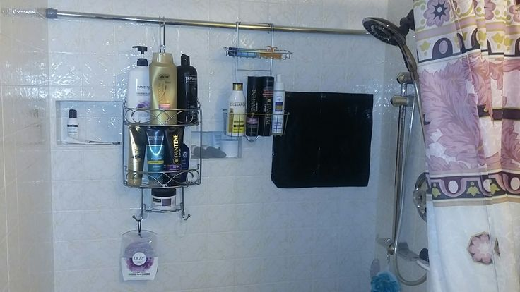 I love my shower racks and don't trip on bottles and brushes anymore