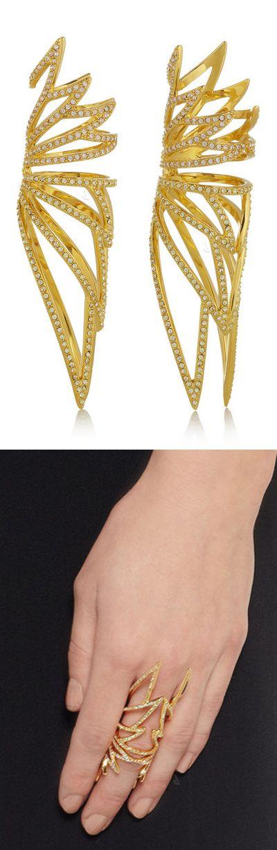 Wing hinge statement ring // amazing #jewelry_design