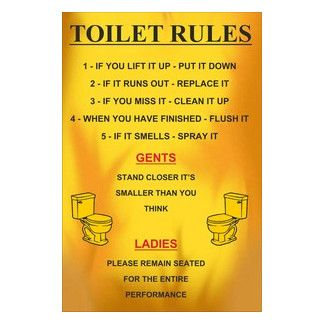 <strong>Signs 2 All</strong> Toilet Rules Metal Wall Sign
