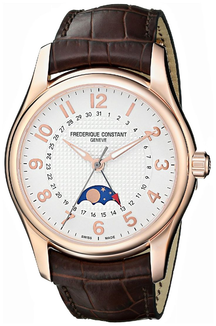 forsining brown movement product genuine watches rose phase top brand shanghai strap mens moon case leather lunar gold