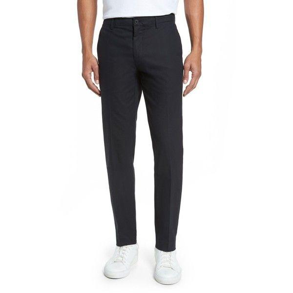 Men's Bonobos Slim Tech Chinos (€145) ❤ liked on Polyvore featuring men's fashion, men's clothing, men's pants, men's casual pants, black, mens slim fit chino pants, bonobos men's pants, mens woven pants, mens stretch pants and mens slim pants