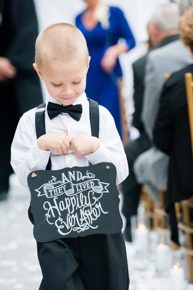 Exit sign for the ring bearer