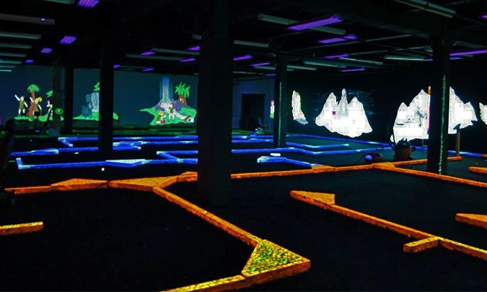 Adventurers Mini Golf - Queen Village -  Pennsport: One Punch Card, Good for 5 or 10 Rounds of Glow-in-the-Dark Mini Golf at Adventurers Mini Golf (Up to 47% Off)