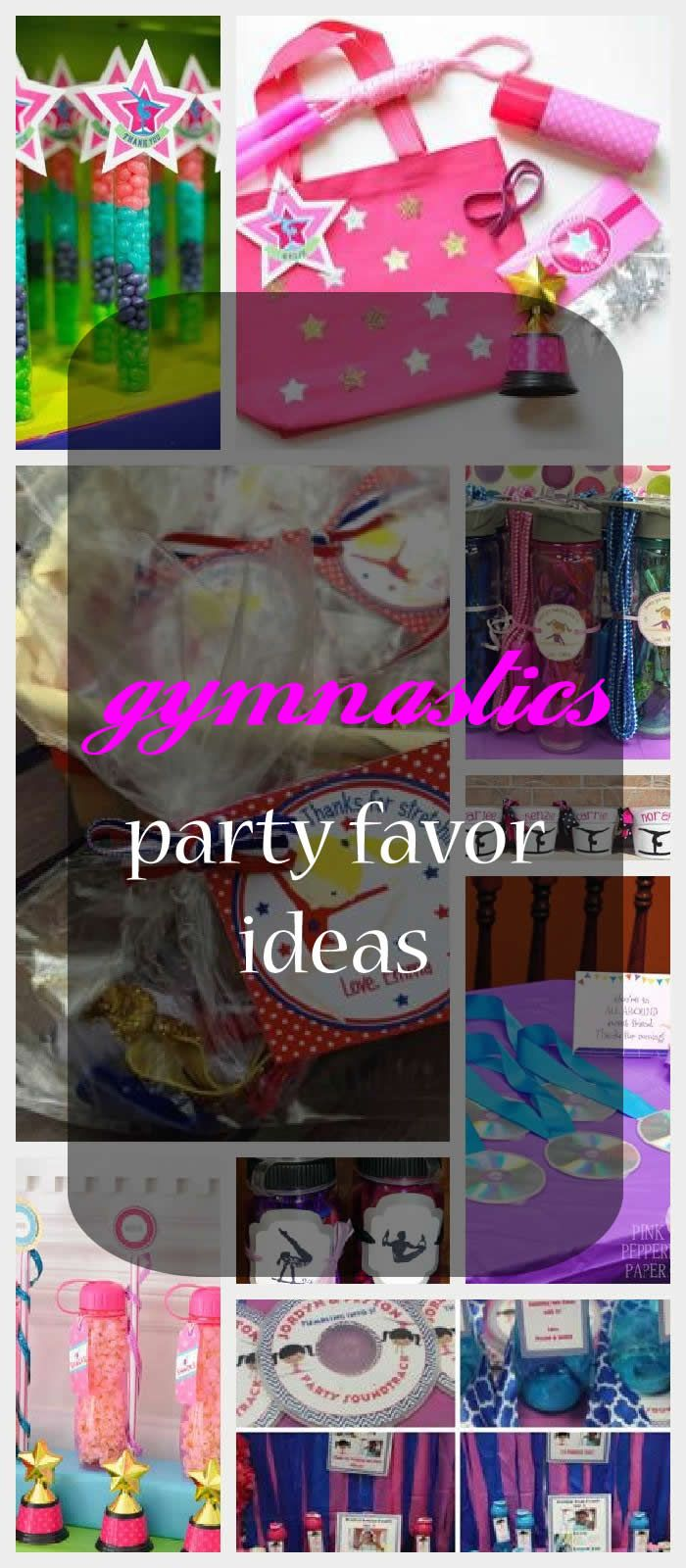 Find fun gymnastics party favor ideas for you child's next birthday party.
