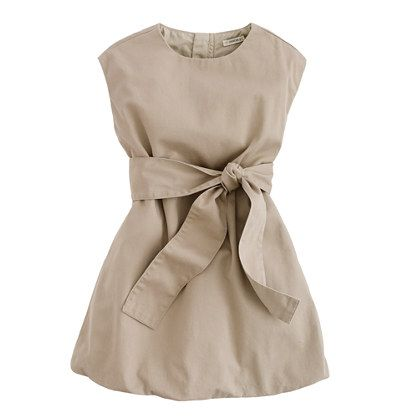 Girls' belted chino bubble dress  @Abbey Adique-Alarcon Ritter, @Megan Maxwell Busa i thought this kind of style would be cute for the girls (wrong color though)- what do you think?