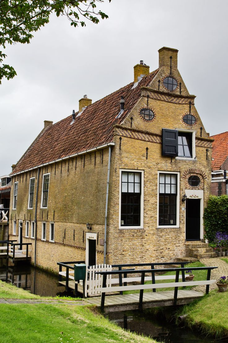 An old house in Hindeloopen, Friesland, the Netherlands (July 3 2013).