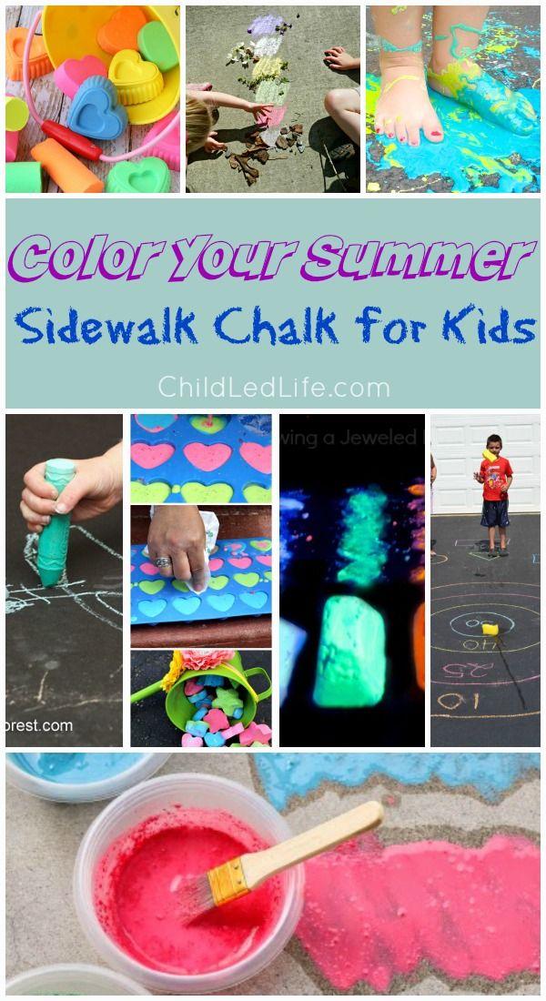 Welcome summer with Sidewalk Chalk for Kids on ChildLedLife.com