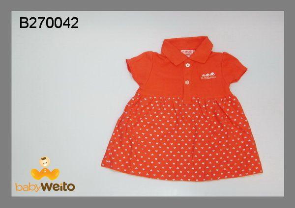 B270042  Dress polkadot orange  Bahan halus dan lembut  Warna sesuai gambar  IDR 95*