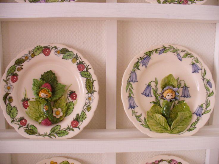 Keramik-Teller mit Blumenelfen