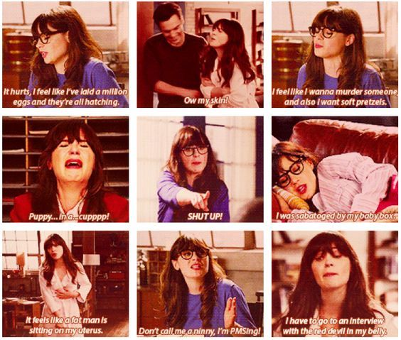 Image result for new girl period quotes