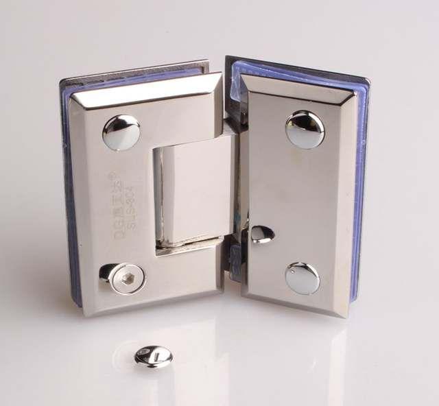 Stainless Steel 304 Glass Clamp Shower Door Hinge Connector Shower Room Folder Dg1110 135 Degrees Shower Doors Stainless Steel 304 Glass Shower