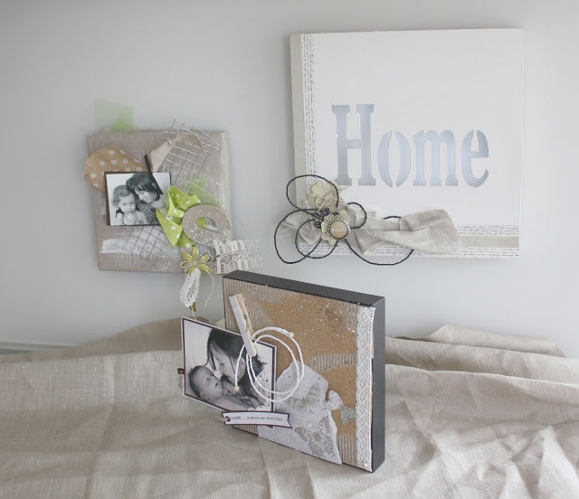 """Triptyque """"Home Sweet Home"""""""