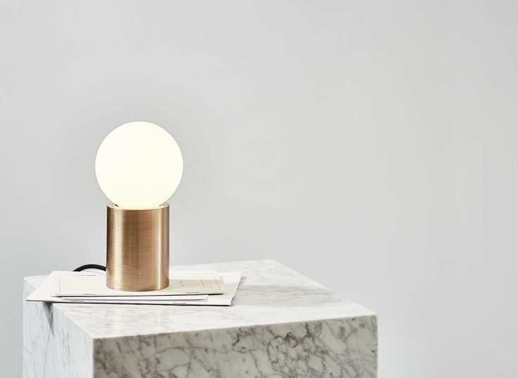 Socket Occasional Lamp represents part of a study exploring the boundaries between minimalist sculpture and practical everyday objects by Danish design studio Norm Architects.