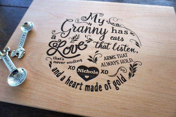 Grandma's Present for Mother's Day Custom by TheCuttingBoardShop